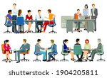 business meetings and advice ... | Shutterstock .eps vector #1904205811