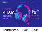 online music streaming service... | Shutterstock .eps vector #1904218534
