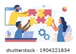 people working together.... | Shutterstock .eps vector #1904221834
