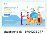 search for supplier  landing...   Shutterstock .eps vector #1904239297