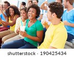 spectators in team colors... | Shutterstock . vector #190425434