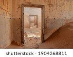 View Through Ruined Doorways In ...