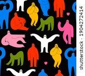 various strange creatures or... | Shutterstock .eps vector #1904272414