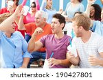 spectators cheering at outdoor... | Shutterstock . vector #190427801