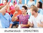 spectators cheering at outdoor... | Shutterstock . vector #190427801