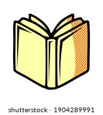 open book icon isolated on...
