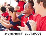 spectators in team colors... | Shutterstock . vector #190429001