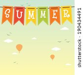 summer. vector background | Shutterstock .eps vector #190434491