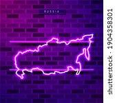 russia map glowing neon lamp...   Shutterstock .eps vector #1904358301
