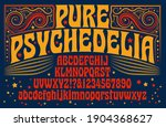 a 1960s style psychedelic... | Shutterstock .eps vector #1904368627