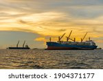 Large Cargo Ship For...