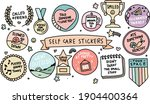self care sticker set hand... | Shutterstock .eps vector #1904400364