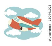 plane in the clouds | Shutterstock .eps vector #190441025