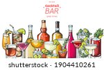 alcoholic cocktails hand drawn... | Shutterstock .eps vector #1904410261