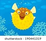 puffer fish | Shutterstock .eps vector #190441319
