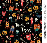 halloween cartoon bright... | Shutterstock . vector #190443257