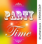 party time poster | Shutterstock . vector #190443269
