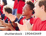 spectators in team colors... | Shutterstock . vector #190443449