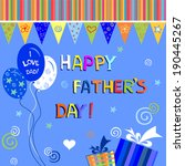 happy father's day greeting... | Shutterstock .eps vector #190445267