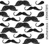 Sketch Mustache  Vector Vintag...