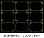 horizontal rectangular frame... | Shutterstock .eps vector #1904485444