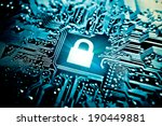 graphic symbol of a lock on a... | Shutterstock . vector #190449881