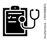 medical report icon in solid...   Shutterstock .eps vector #1904588851