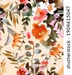 botanical seamless pattern.... | Shutterstock . vector #1904615047