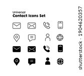 contact us icons. simple flat... | Shutterstock .eps vector #1904620357