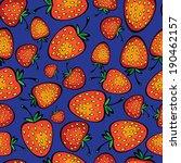 red strawberry seamless pattern | Shutterstock . vector #190462157