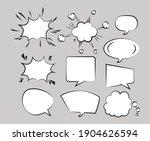 ten retro speech bubbles drawn... | Shutterstock .eps vector #1904626594