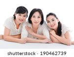 cheerful family having fun... | Shutterstock . vector #190462739