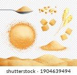brown sugar set with caramel... | Shutterstock .eps vector #1904639494