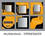 editable template post for ig... | Shutterstock .eps vector #1904656654