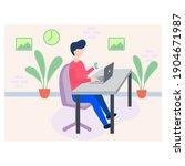 illustration of habits of a... | Shutterstock .eps vector #1904671987