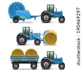 Vector Agricultural Tractor Se...