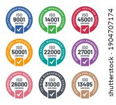 Set of ISO Certification stamp and labels