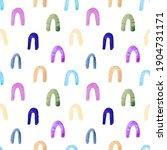rainbow seamless pattern.... | Shutterstock . vector #1904731171