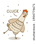 cute chicken isolated on white  ...   Shutterstock .eps vector #1904774671