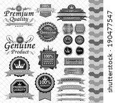 luxury label set black   white | Shutterstock .eps vector #190477547