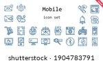 mobile icon set. line icon...