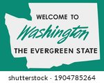 welcome to washington sign with ...   Shutterstock .eps vector #1904785264