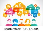 concept of people communicate... | Shutterstock .eps vector #190478585