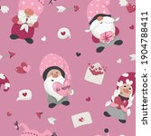 seamless pattern with valentine'... | Shutterstock .eps vector #1904788411