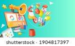 3d conceptual illustration of... | Shutterstock . vector #1904817397