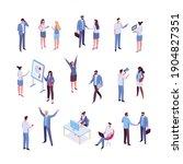 isomeric business people vector ...   Shutterstock .eps vector #1904827351