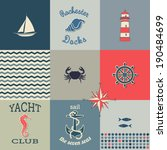 nautical icons poster   poster...   Shutterstock .eps vector #190484699