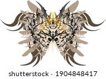 awful butterfly wings in pastel ... | Shutterstock .eps vector #1904848417