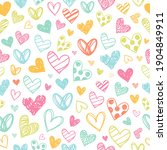 Colorful Heart Doodles Love...