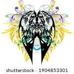 ornamental floral butterfly... | Shutterstock .eps vector #1904853301